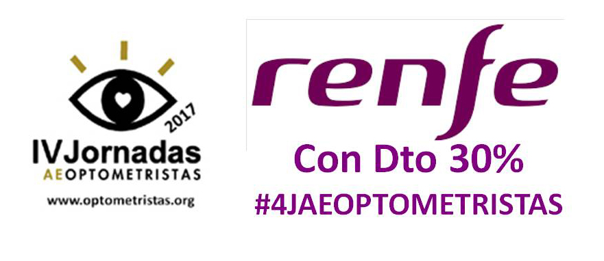 IV Jornadas AEOPTOMETRISTAS descuento RENFE