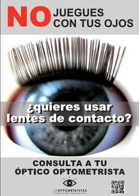 Cartel lentes de contacto
