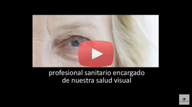 Vídeo Óptico optometrista, profesional sanitario, de la Asociación Española de Optometristas Unidos