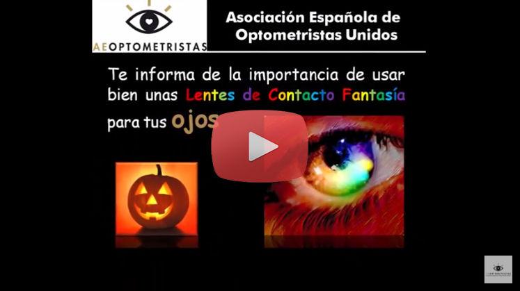 Vídeo Recomendaciones de Uso de Lentes de Contacto para Halloween de la Asociación Española de Optometristas Unidos